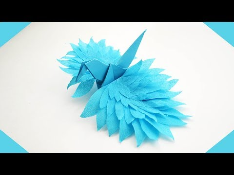 Wonderful Paper CRANE | Craft Origami Bird Tutorial DIY