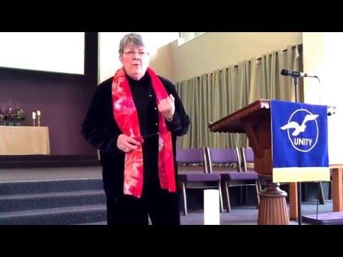 Rev. Sandra Butler dedicates the Christ candle.