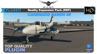 [X-Plane 11] SimCoders Reality Expansion Pack (REP) for the Carenado Baron 58