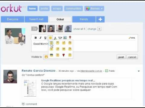 Orkut Scrap to all and your Groups of Friends