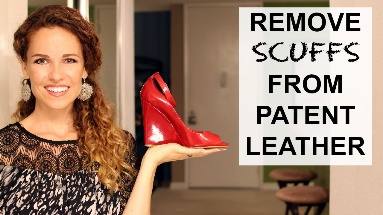 How to remove white scuff marks from black patent leather shoes