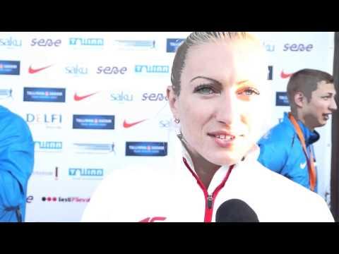 Karolina Tyminska (POL) after winning EC Combined Events, Tallinn 2013