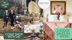How To Shop Estate Sales - Pro Tips! 3 Estate Sales In 1 Week! Estate Sale Haul -The Recycled Life