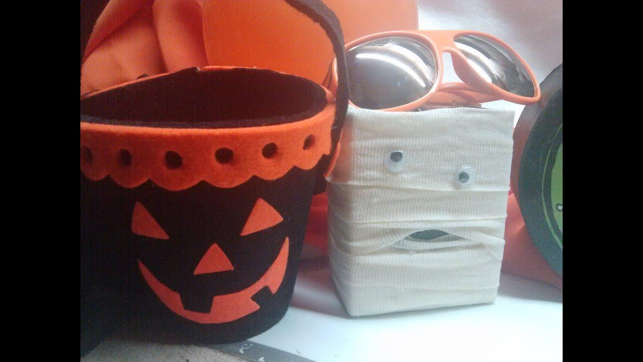 Diy cajita de momia para halloween reciclando envases de - Manualidades con envases ...