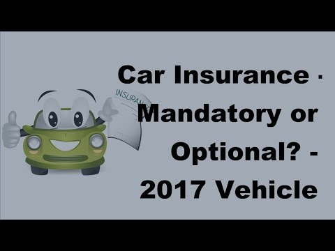 Car Insurance |  Mandatory or Optional -  2017 Vehicle Insurance Policy