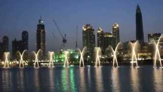 Dubai Dancing Fountain   the prayer  Celine Dion & Andrea Bocelli