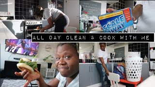 ALL DAY CLEAN WITH ME, COOK DINNER WITH ME FOR MY FAMILY