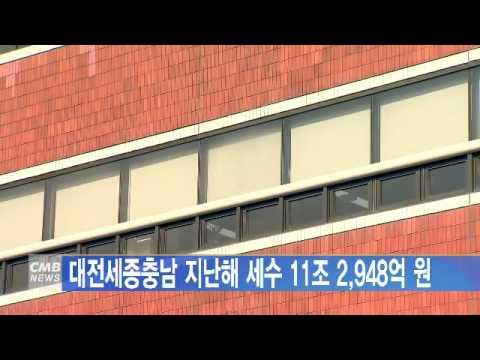[대전뉴스] 대전세종충남 지난해 세수 11조 2,948억 원