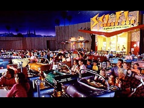 Sci Fi Drive In Cinema At Disney Hollywood Studios Best Restaurant 1950 S Eat A Car