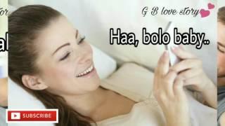 Cute love convo between BF &  GF | short romantic love conversation |