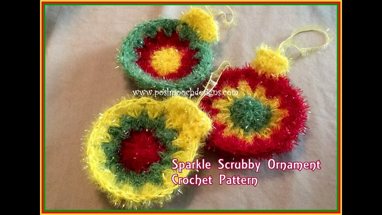 Sparkle Scrubby Ornament Crochet Pattern Youtube