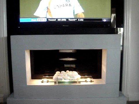 motorised fireplace plasma install remote automation
