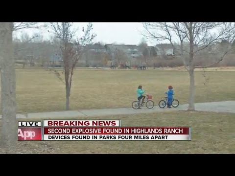 Second explosive found in Highland Ranch park