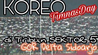 Blink-Blink..!! Koreo Suporter Timnas U19 di Sektor 5 GOR Sidoarjo | Indonesia vs Philippines