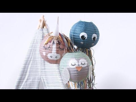 DIY : Create lovely animals from rice paper lamps by Søstrene Grene