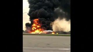 Russian plane makes fiery crash landing, killing 41