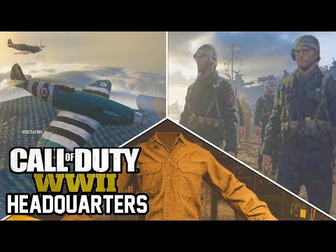 10 OUTSIDE THE MAP SECRETS IN HEADQUARTERS! (Call of Duty WW2)