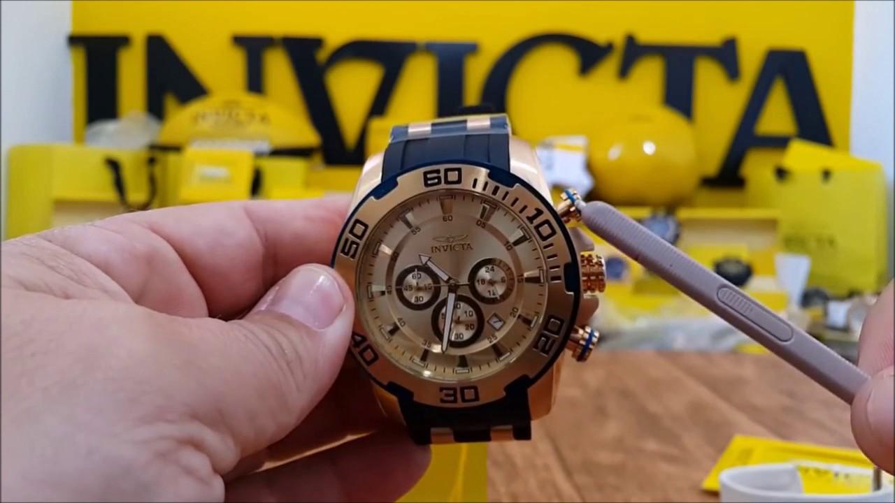 636b2b49bb4 Relogio Invicta Pro Diver 22345 - YouTube