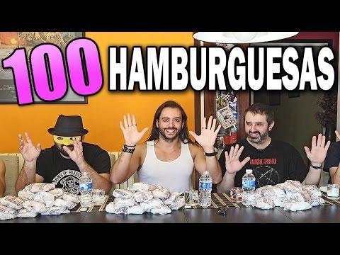 100 HAMBURGUESAS | 5 HOMBRES