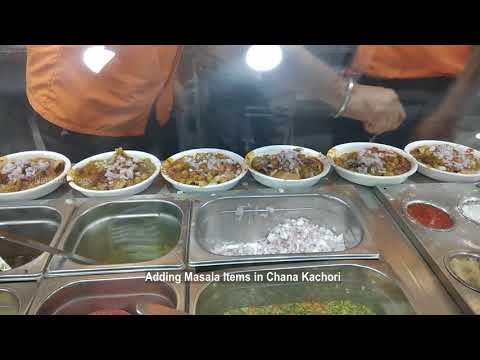 Chana kachori chaat items at LOIEE restaurants Chrompet Chennai