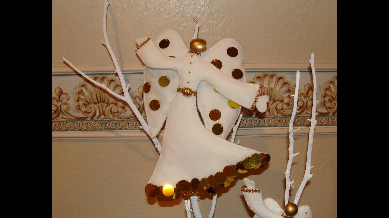 Diy angeles navide os en fieltro felt christmas angels - Angeles de navidad manualidades ...