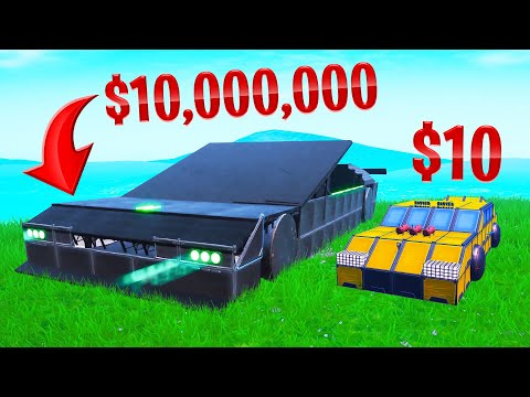 Building a $10,000,000 SUPERCAR In FORTNITE! thumbnail
