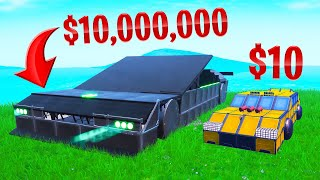 Building a $10,000,000 SUPERCAR In FORTNITE!