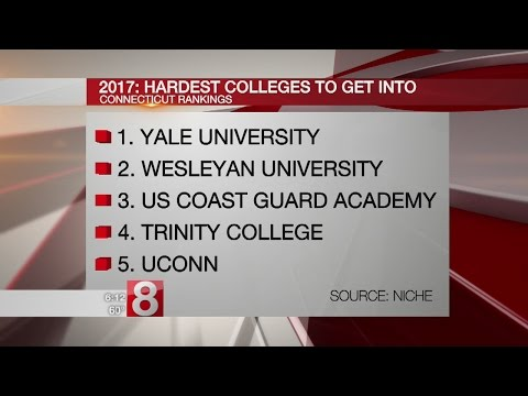 Which is the hardest college in Connecticut to get into?