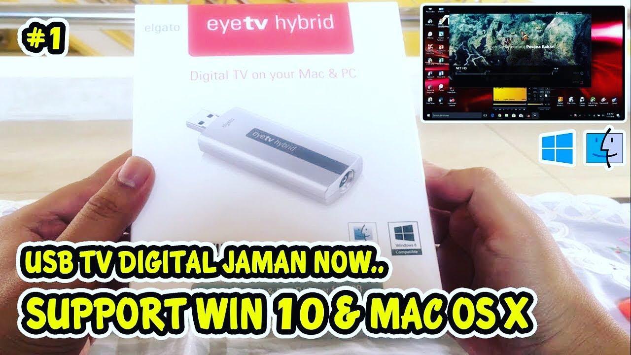 TV Tuner Digital Usb Elgato eyeTV Hybrid WIN 10 [UNBOXING & REVIEW]