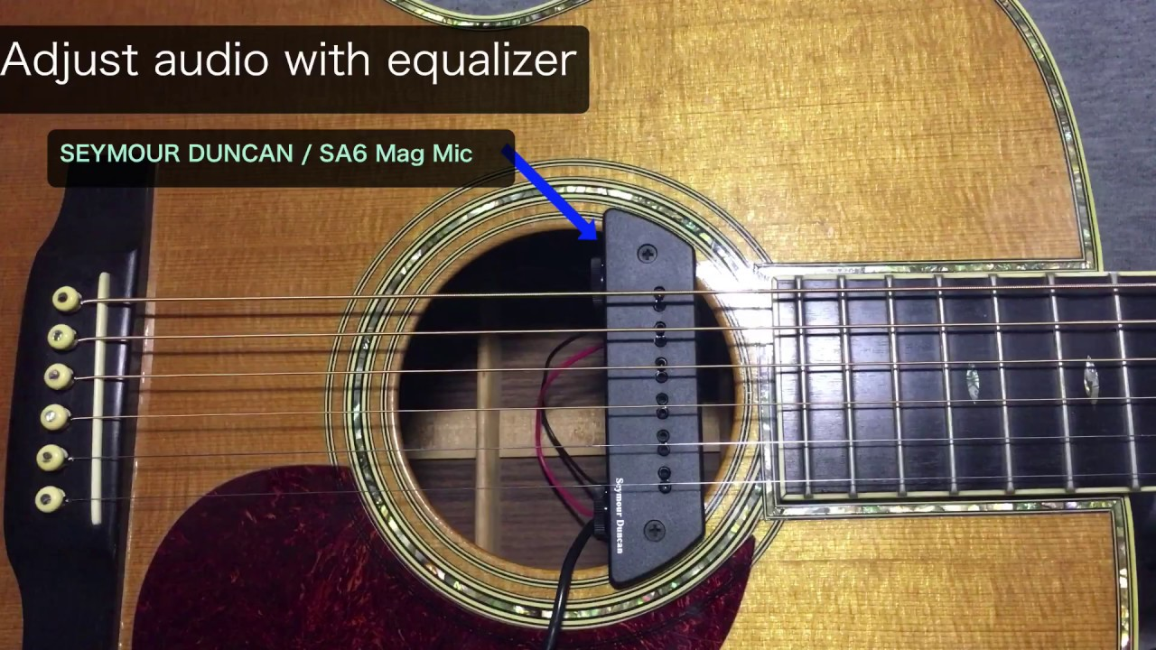 Seymour Duncan Mag Mic Acoustic Pickup Sound Check - YouTube