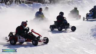 "Winter Karting ""Svobodny shipy"" raw footage 04.03.2018"