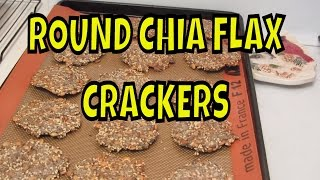 Round Chia And Flax Seed Crackers With Pumpkin, Sunflower And Sesame Seeds ~  Gluten Free