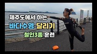 철인3종 훈련, 제주도에서 하는 바다수영, 달리기