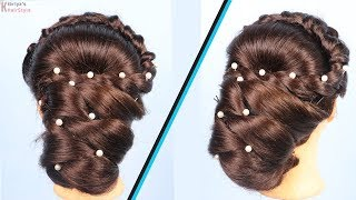 Twisted Low Side Bun. Prom Wedding Hairstyles For Long Hair