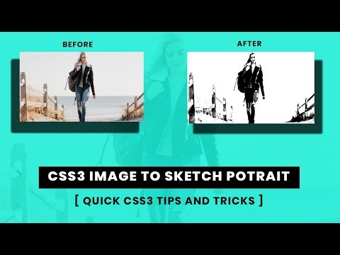 Turning an image into a potrait sketch by css3   CSS Quick tips and tricks