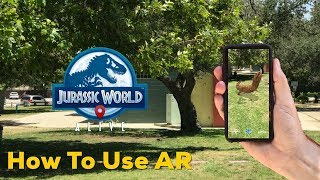 HOW TO USE AR IN JURASSIC WORLD ALIVE