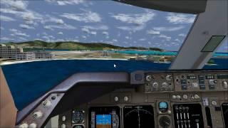 FS2004 | PMDG Boeing 747-400 St.Maarten Landing (TNCM)