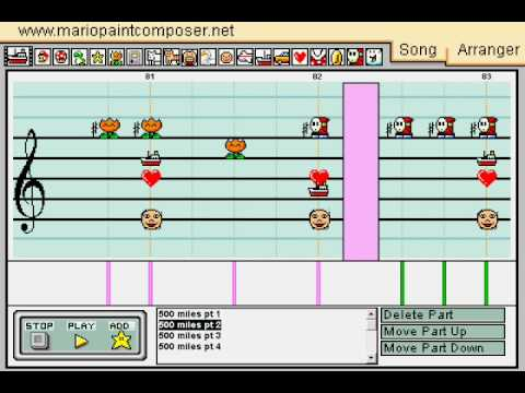 Mario Paint Composer v2.0 - I'm Gonna Be (500 Miles) by The Proclaimers
