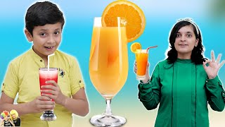 SUMMER DRINKS & COOLERS in 2 Minutes   DIY   Fire less Cooking by Kids   Aayu and Pihu Show