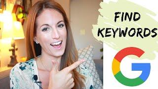 Free keyword tool: Find Keywords for your website | SEO Tutorial