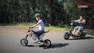 Электробайк SEEV citycoco ZERO  и Windtech Dirt Bike. Веселые покатушки с Димой