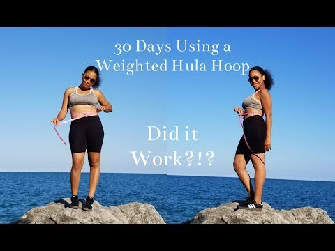 I tried a WEIGHTED HULA HOOP for 30 Days!