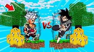ILHA DO DARK INE vs ILHA DO GOKU BLACK! l MINECRAFT ILHA LUCKY BLOCK ‹ Frango ›