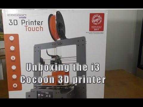 Unboxing Cocoon i3 plastic 3D printer