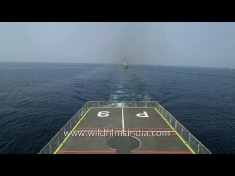 Indian Navy officers on INS Sunayna