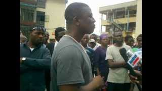 LASU Part Time Student - Non Resumption Congress Protest 1