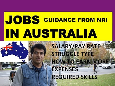 JOBS IN AUSTRALIA | Professions Occupations Govt Rules