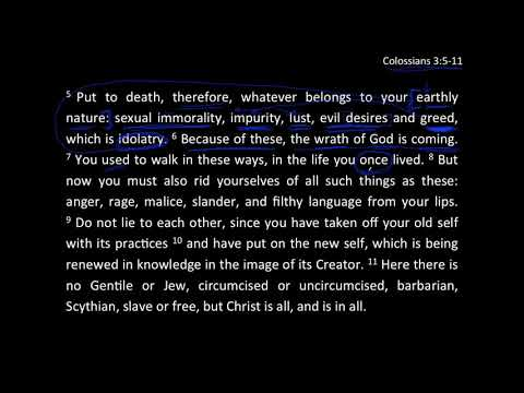 Put On The New - Col 3:5-11