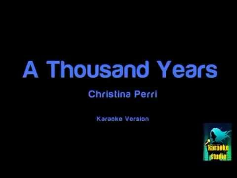Christina Perri  A Thousand Years  Karaoke Version