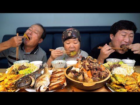 추석맞이 한 상 가득 명절음식 먹방!! (Chuseok, Korean Thanksgiving Day) 요리&먹방!! - Mukbang eating show